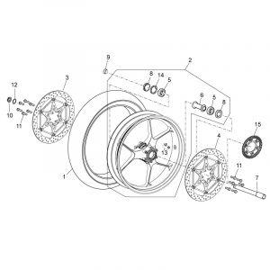 Aprilia RSV4 1000 APRC R ABS 2013-2014 - Front Wheel