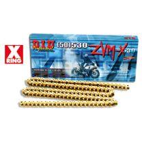 DID Chain 520ZVM-X - Gold / Black / Steel 110, 112, 114, 116, 118, 120 Links