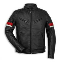 Ducati Leather Jacket - Urban Stripes
